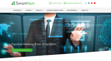 SMARTKEM LAUNCHES NEW WEBSITE TO SUPPORT RESHAPING OF THE DISPLAY AND ELECTRONICS INDUSTRY